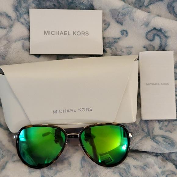 Authentic Michael Kors Sunglasses Tortoise Green